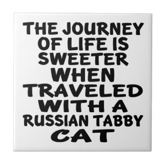 Traveled With Russian Tabby Cat Tiles