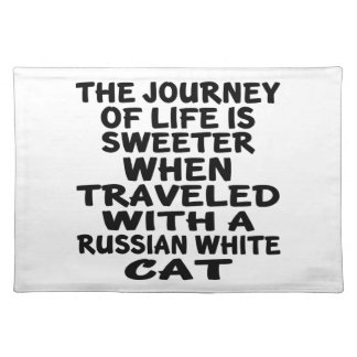 Traveled With Russian White Cat Placemat