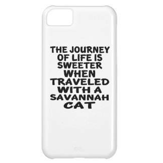 Traveled With Savannah Cat Cover For iPhone 5C