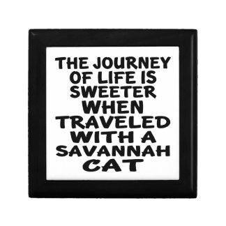 Traveled With Savannah Cat Gift Box