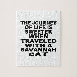 Traveled With Savannah Cat Jigsaw Puzzle