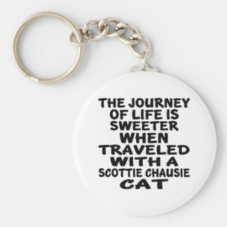 Traveled With Scottie chausie Cat Keychain