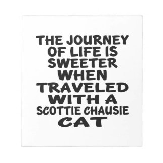 Traveled With Scottie chausie Cat Notepad