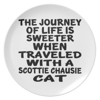 Traveled With Scottie chausie Cat Plate