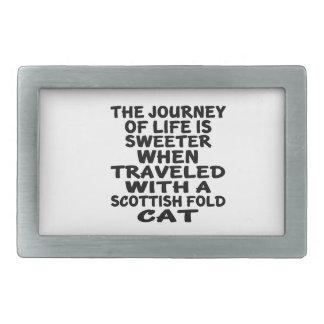 Traveled With Scottish Fold Cat Belt Buckle