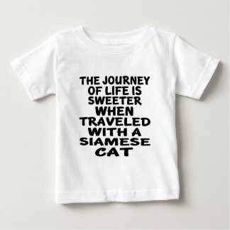 Traveled With Siamese Cat Baby T-Shirt