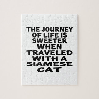 Traveled With Siamese Cat Jigsaw Puzzle