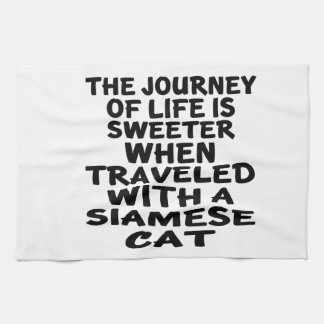 Traveled With Siamese Cat Kitchen Towel