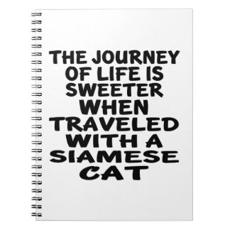 Traveled With Siamese Cat Notebooks