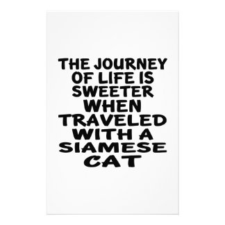Traveled With Siamese Cat Stationery