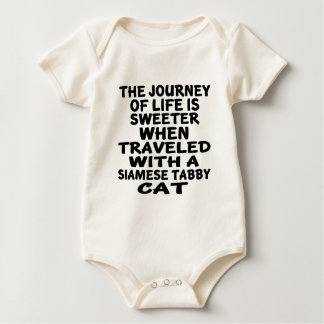 Traveled With Siamese tabby Cat Baby Bodysuit