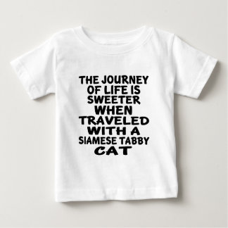 Traveled With Siamese tabby Cat Baby T-Shirt
