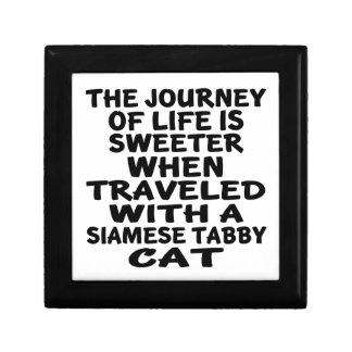 Traveled With Siamese tabby Cat Gift Box