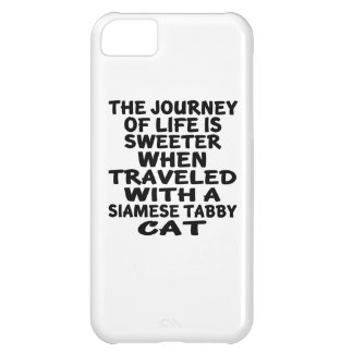 Traveled With Siamese tabby Cat iPhone 5C Cases