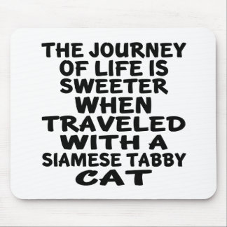 Traveled With Siamese tabby Cat Mouse Pad