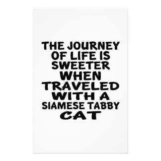 Traveled With Siamese tabby Cat Stationery