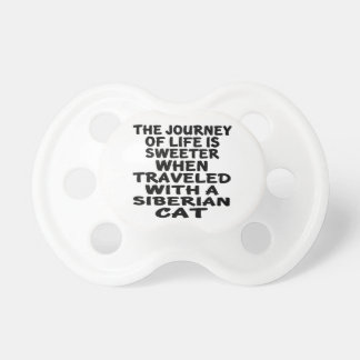 Traveled With Siberian Cat Pacifier