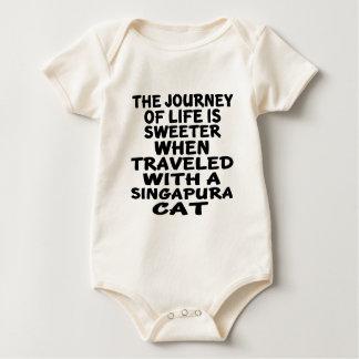 Traveled With Singapura Cat Baby Bodysuit