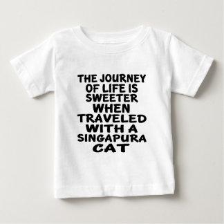 Traveled With Singapura Cat Baby T-Shirt