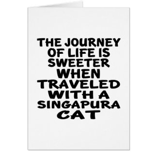 Traveled With Singapura Cat Card