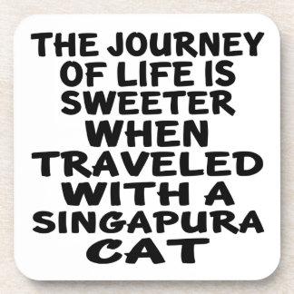 Traveled With Singapura Cat Coaster
