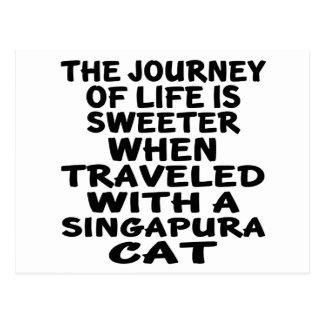Traveled With Singapura Cat Postcard