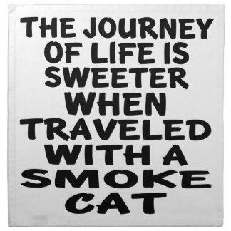 Traveled With Smoke Cat Napkin