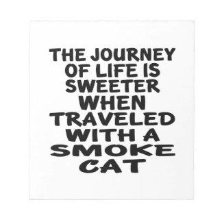 Traveled With Smoke Cat Notepad