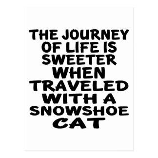 Traveled With Snowshoe Cat Postcard