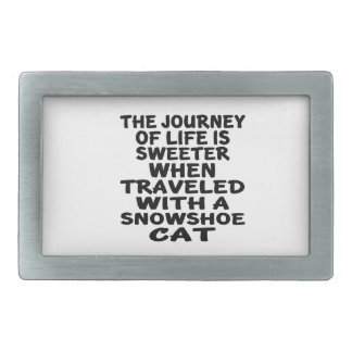 Traveled With Snowshoe Cat Rectangular Belt Buckle