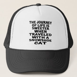 Traveled With Snowshoe Cat Trucker Hat