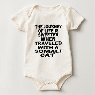 Traveled With Somali Cat Baby Bodysuit