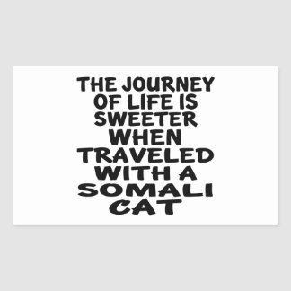 Traveled With Somali Cat Sticker