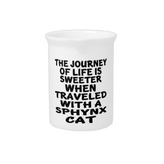 Traveled With Sphynx Cat Drink Pitcher