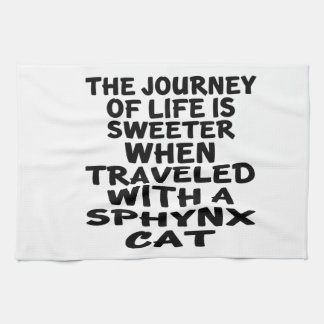 Traveled With Sphynx Cat Kitchen Towel