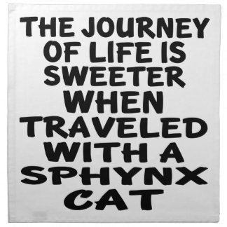 Traveled With Sphynx Cat Napkin