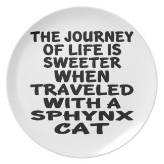 Traveled With Sphynx Cat Party Plates