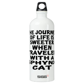 Traveled With Sphynx Cat Water Bottle