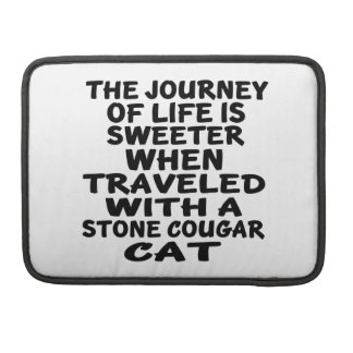 Traveled With Stone cougar Cat Sleeve For MacBooks