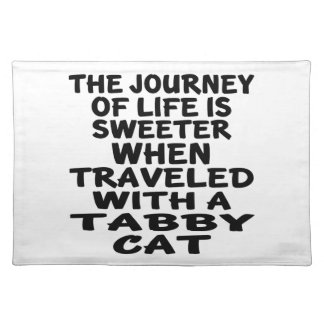 Traveled With Tabby Cat Placemat