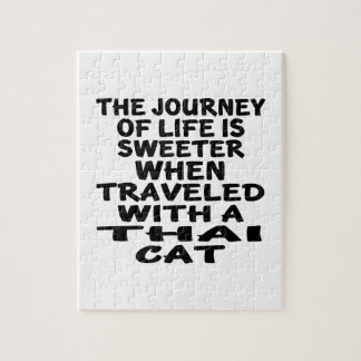 Traveled With Thai Cat Jigsaw Puzzle