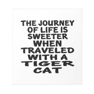 Traveled With Tiger cat Cat Notepad
