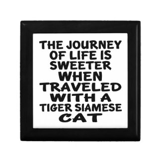 Traveled With Tiger siamese Cat Gift Box