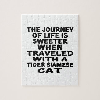 Traveled With Tiger siamese Cat Jigsaw Puzzle