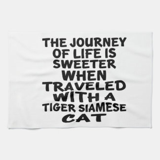 Traveled With Tiger siamese Cat Kitchen Towel