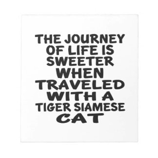 Traveled With Tiger siamese Cat Notepad
