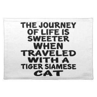 Traveled With Tiger siamese Cat Placemat