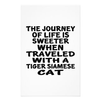 Traveled With Tiger siamese Cat Stationery