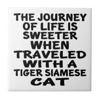 Traveled With Tiger siamese Cat Tile