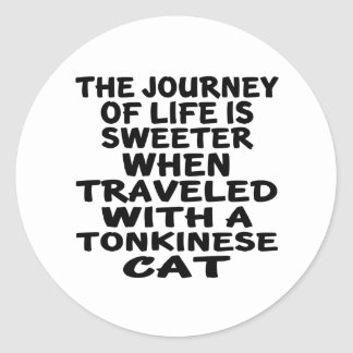 Traveled With Tonkinese Cat Classic Round Sticker